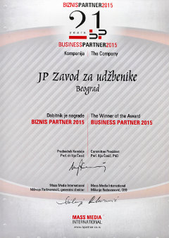 "Nagrada ""BIZNIS PARTNER 2015"""