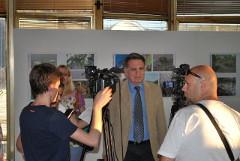Direktor Zavoda Dragoljub Kojčić daje intervju lokalnim medijima i dopisništvu RTS_a u Čačku