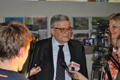 Nikos Cicimelis, ataše za štampu za kulturu ambasade Grčke i direktor Helenskog fonda za kulturu u Beogradu, u razgovoru sa čačanskim novinarima